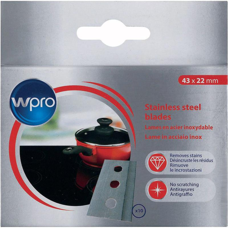 Набор из 10 лезвий для скребка из нержавеющей стали WPRO (SWP0621