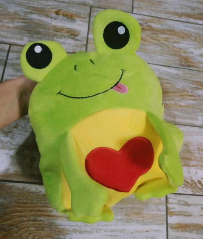 Рюкзак плюшевый лягушка