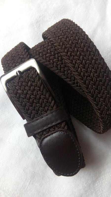 Эластичный пояс резинка унисекс коричневый в наличии