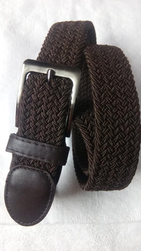 Эластичный пояс резинка унисекс коричневый в наличии - Фото 5