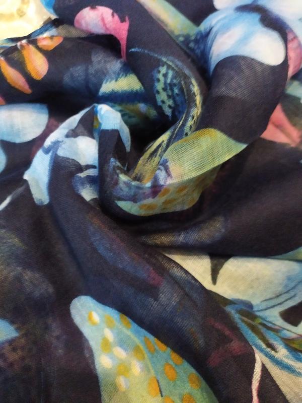 Небольшой снуд хомут круговой шарф индиго синий в наличии - Фото 5
