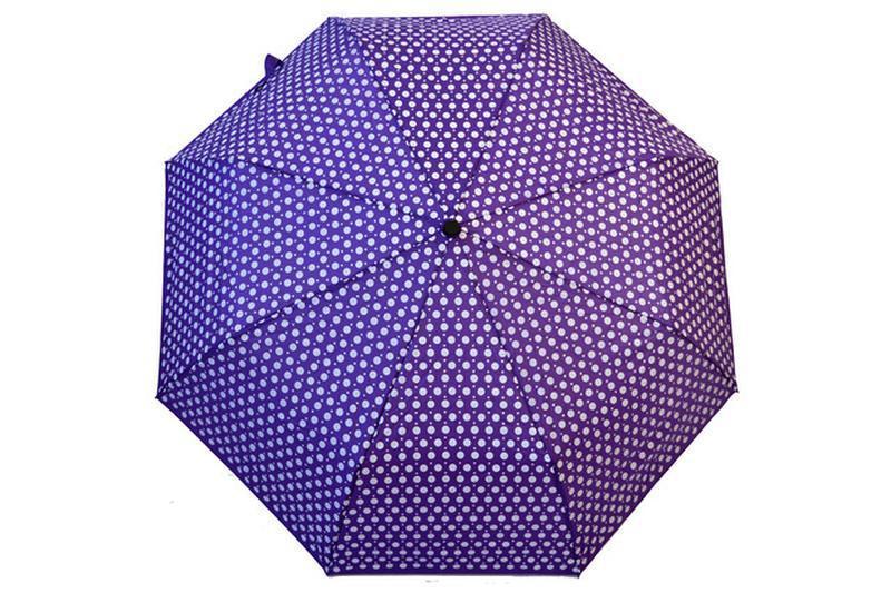 Зонт в горох горошек фиолетовый темно сиреневый в наличии