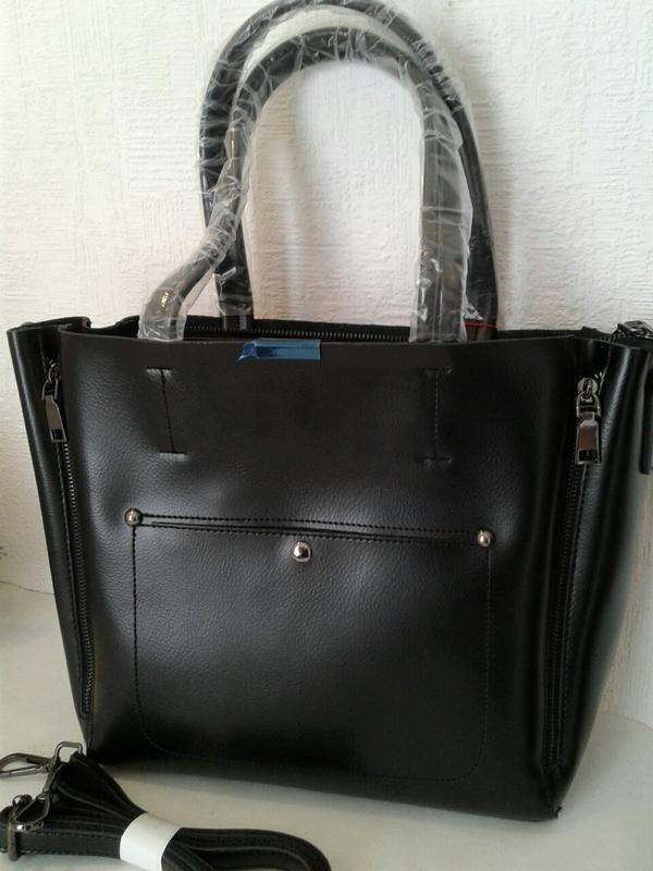 Большая женская кожаная сумка от alex rai