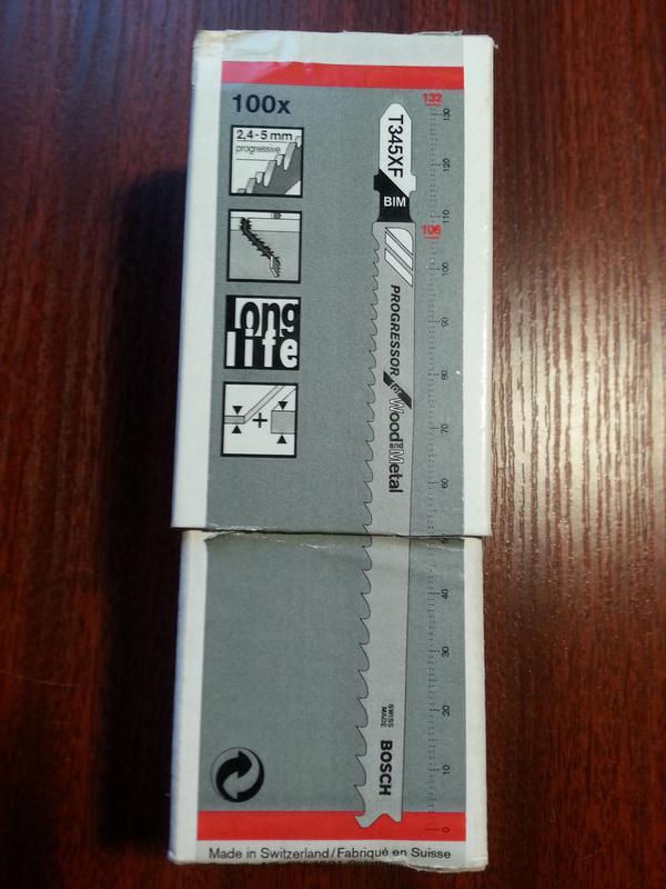 Пилки для электро лобзика T345XF