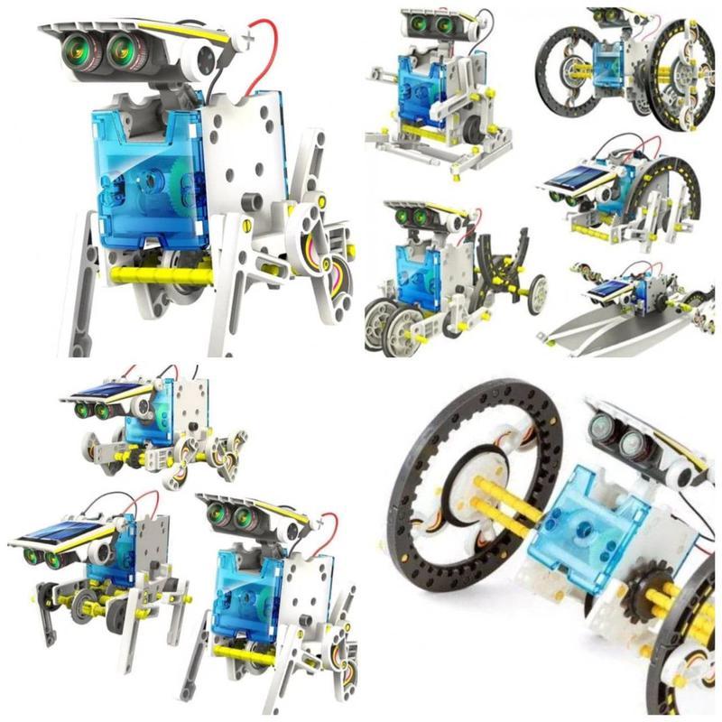 Конструктор робот на солнечных батареях Solar Robot 13 в 1????????