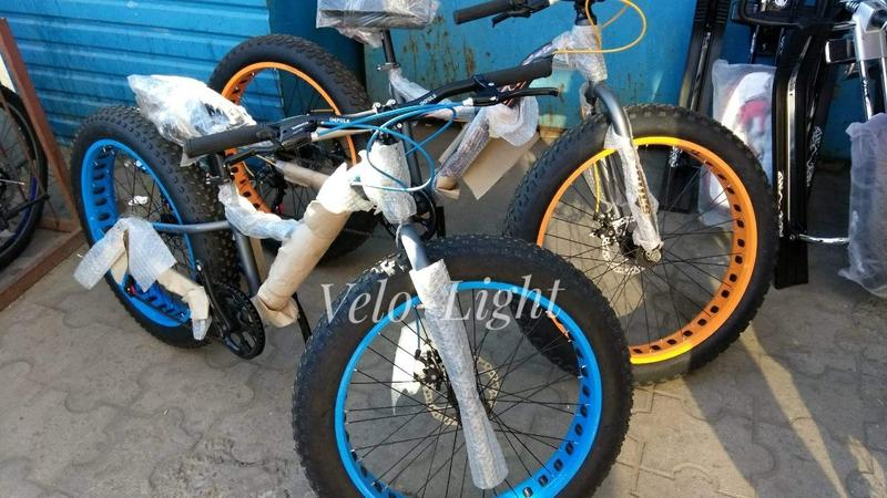 Фэтбайк внедорожник подростковый 24 колёса алюминиевая рама
