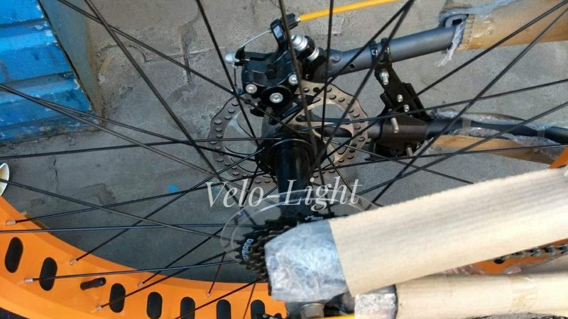 Фэтбайк внедорожник подростковый 24 колёса алюминиевая рама - Фото 3