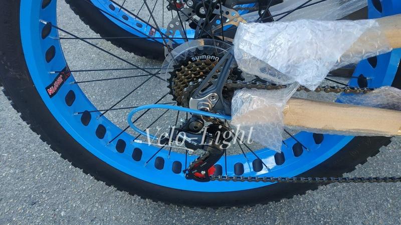 Фэтбайк внедорожник подростковый 24 колёса алюминиевая рама - Фото 6