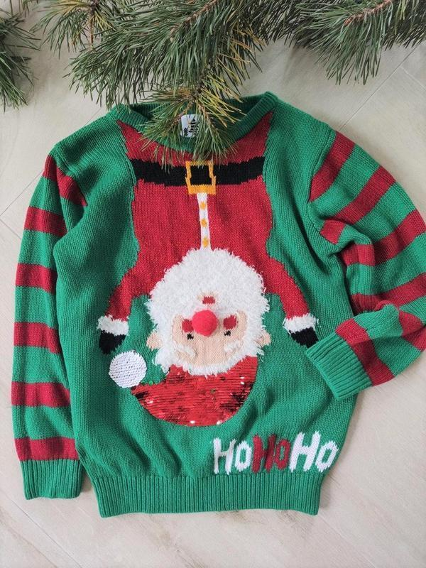 Детский новогодний свитер от george (20), рост 110-116