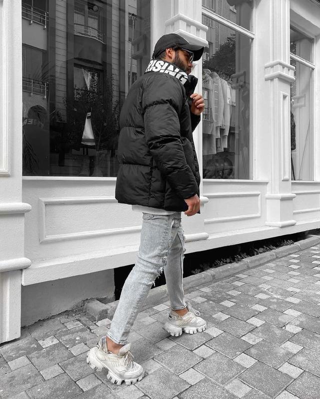 Мужская зимняя куртка оверсайз черного цвета - Фото 2