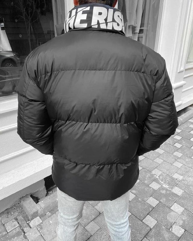 Мужская зимняя куртка оверсайз черного цвета - Фото 3