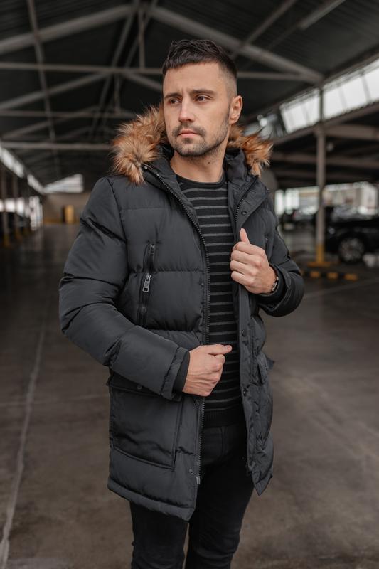 Зимняя теплая мужская куртка арктика