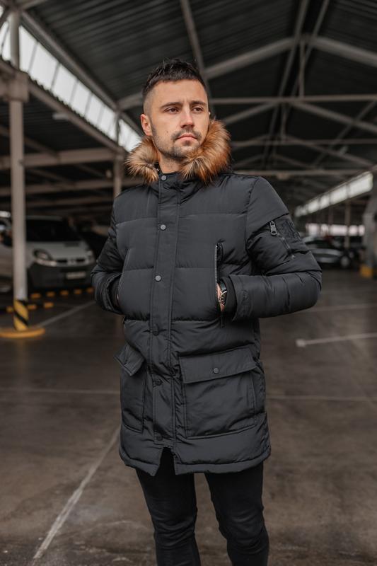 Зимняя теплая мужская куртка арктика - Фото 2