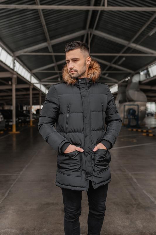 Зимняя теплая мужская куртка арктика - Фото 3