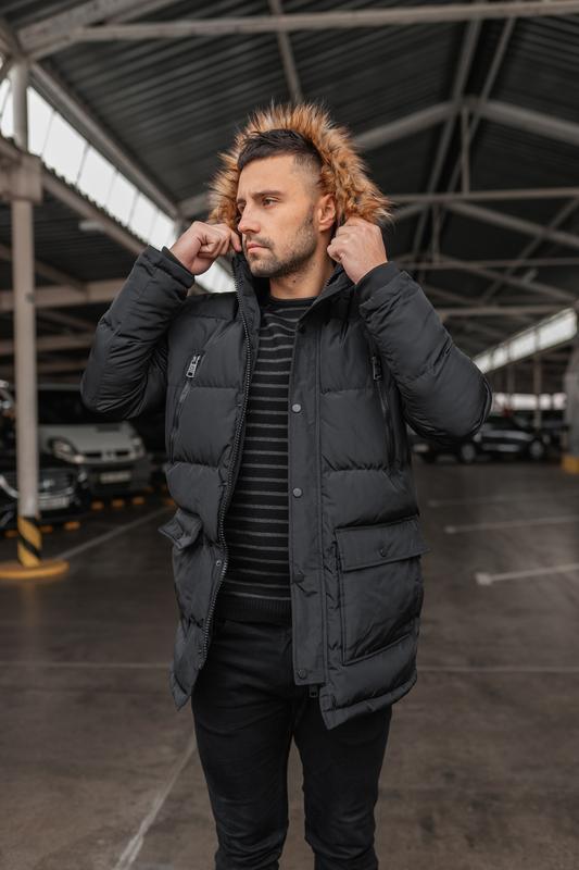 Зимняя теплая мужская куртка арктика - Фото 4