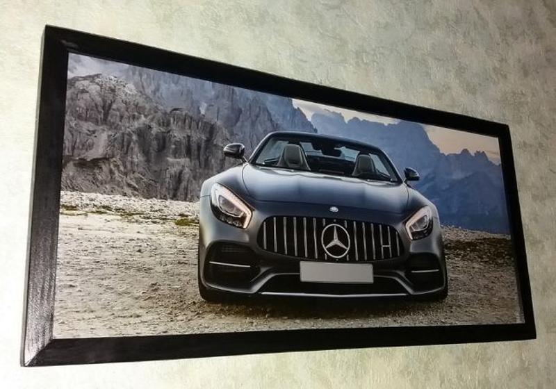 Картина Mercedes AMG GT подарок мужчине папе на День Рождения