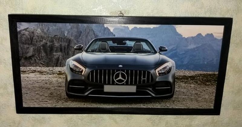 Картина Mercedes AMG GT подарок мужчине папе на День Рождения - Фото 3