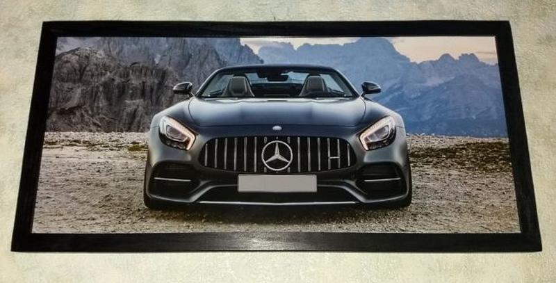 Картина Mercedes AMG GT подарок мужчине папе на День Рождения - Фото 4