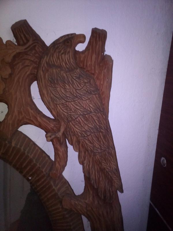 Зеркало в дерев'яній рамі ручної роботи - Фото 3