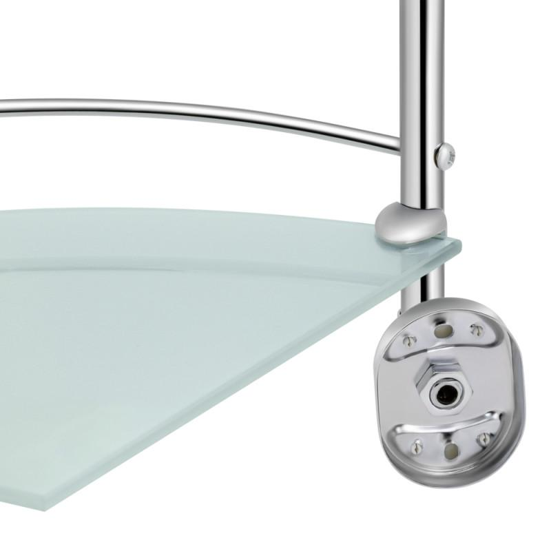 Стеклянная полочка для ванной комнаты 3-х ярусная угловая Lidz (C - Фото 3
