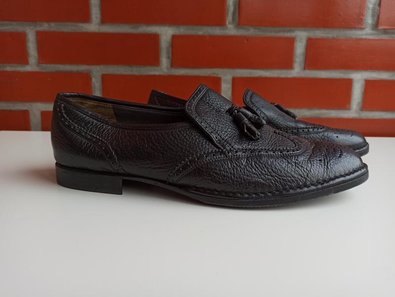 Bally мужские чёрные туфли броги оксфорды размер 11.5 45.5