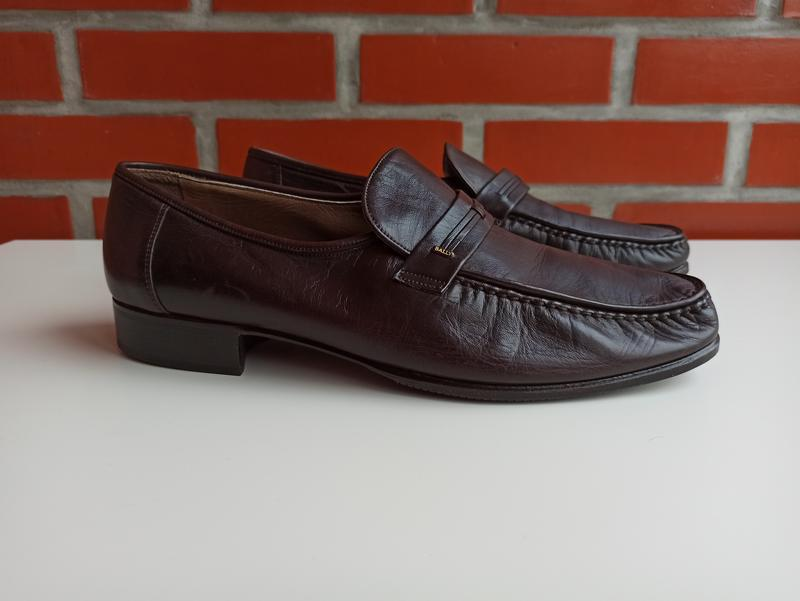 Bally мужские коричневые туфли мокасины броги размер 45