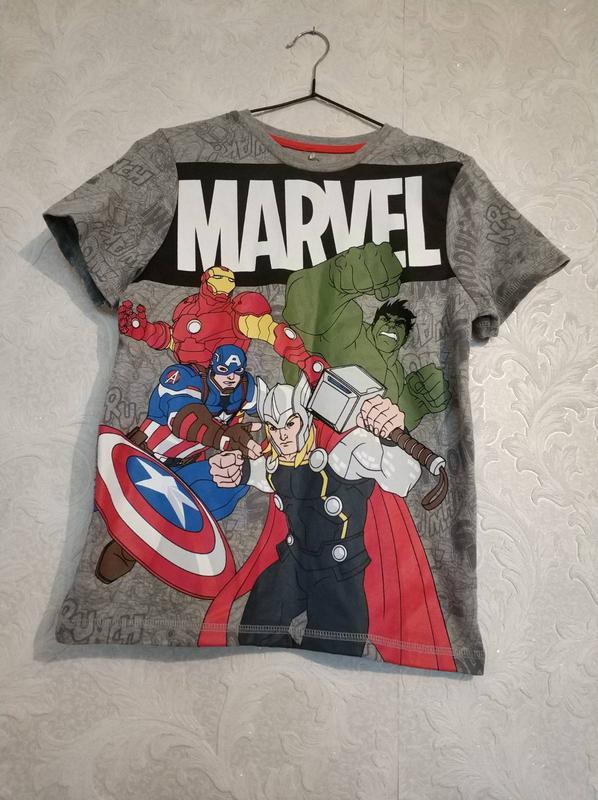 Фирменная футболка марвел marvel avengers at george, 10-11лет.