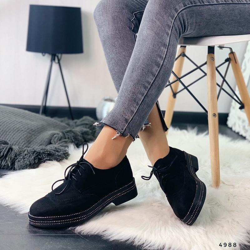 Женские туфли оксфорды, броги 38,40р код 4988