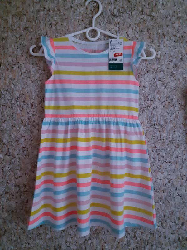 Коттоновое платье сарафан h&m для девочки 4-6лет