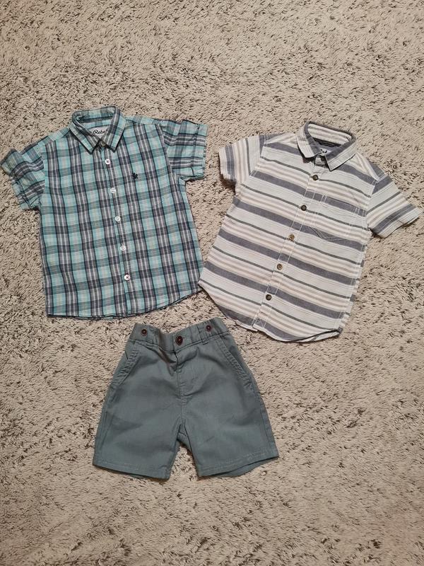 Комплект на 3-4 года., рубашка и шорты, летний костюм, на 3-4 ...