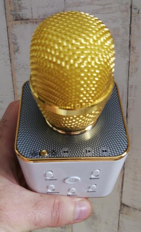 Караоке микрофон с блютуз Q7   2 динамика!!! - Фото 3