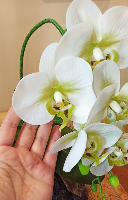 Орхидея искусственная латексная - Фото 9