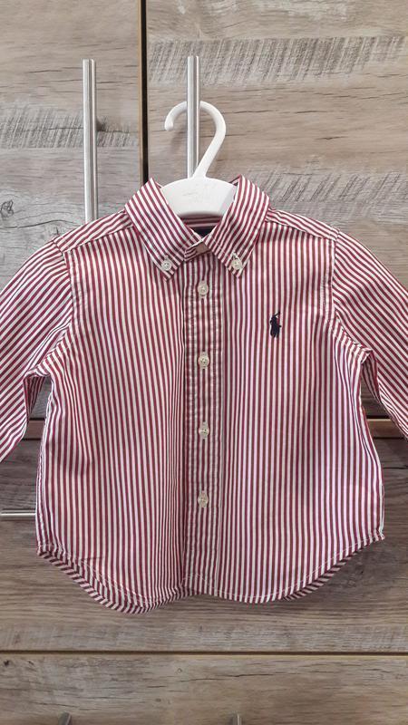 Брендовая рубашка ralph lauren на мальчика 9-12мес.