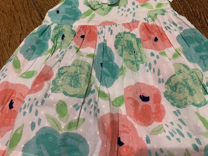 Милое платье в цвета на 3-6 мес. - Фото 2