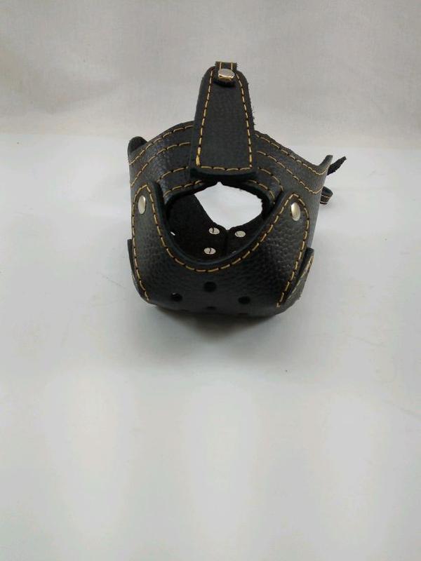 Намордник кожаный ротвеллер с петелькой для ошейника - Фото 3