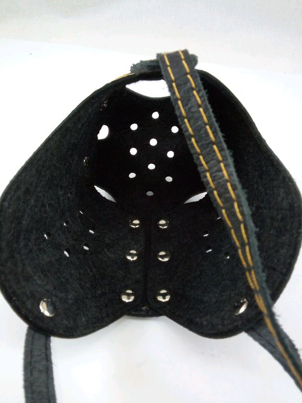 Намордник кожаный ротвеллер с петелькой для ошейника - Фото 6