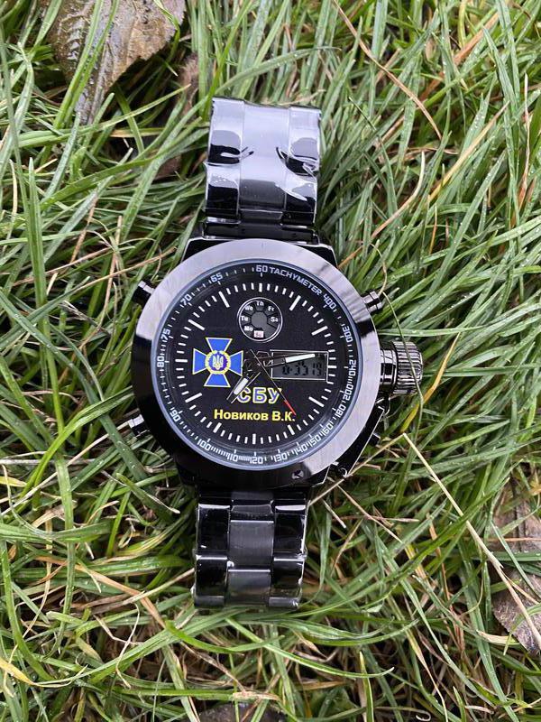 Мужские наручные электронные часы  skmei логотип СБУ - Фото 4