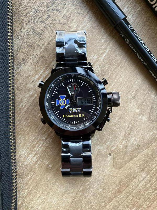 Мужские наручные электронные часы  skmei логотип СБУ - Фото 5