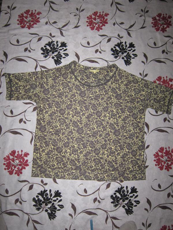 Трикотажная блуза цветочный принт