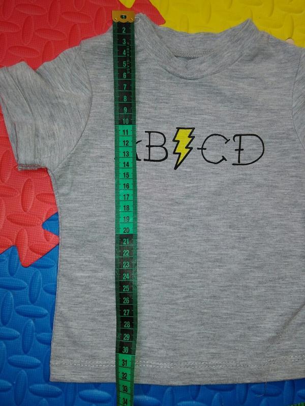 Серая меланжевая футболка - Фото 2