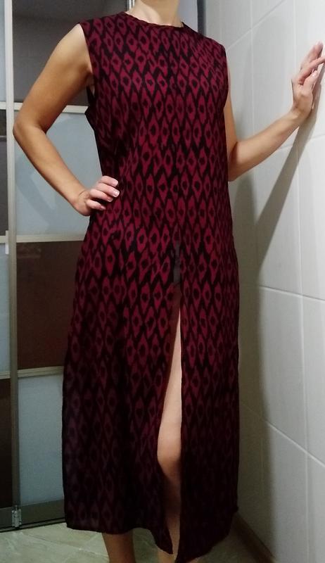 Длиное повседневное платье с высокими разрезами