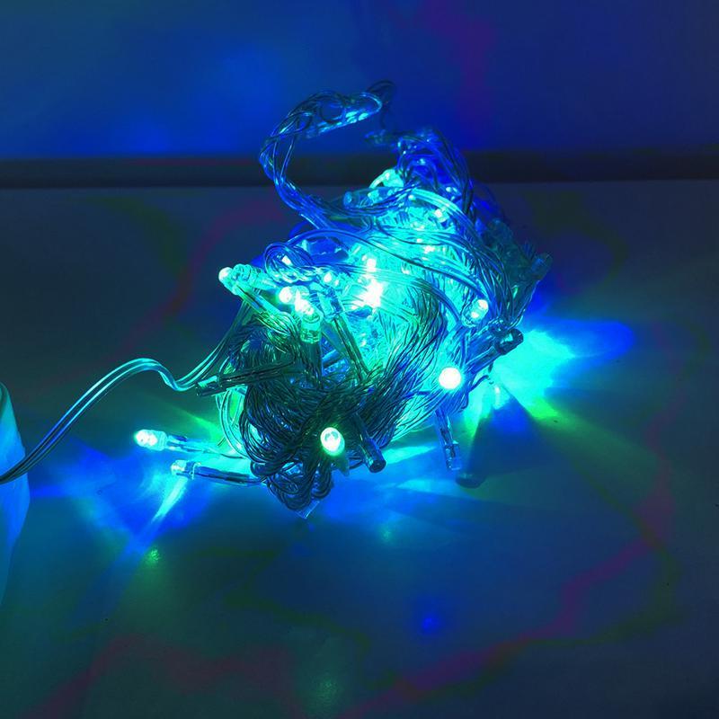 Гирлянда-нить внутренняя, разноцветная,прозрачная 7м.