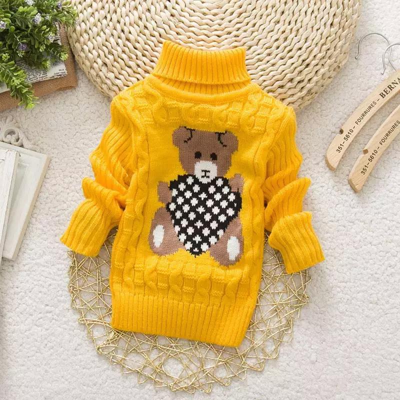 Милый детский свитер с мишкой, 4-6 года, новый
