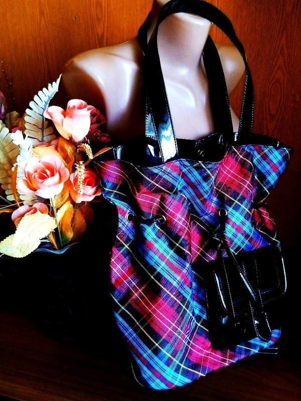 Модная качественная сумка в шотландском стиле новая