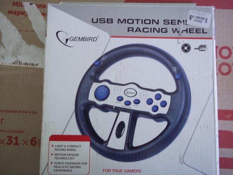 Игровой руль/Кермо Gembird STR-MS01