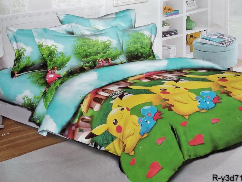 Полуторный комплект детского постельного белья пикачу