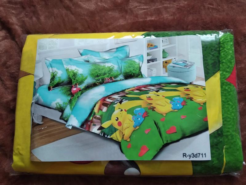 Полуторный комплект детского постельного белья пикачу - Фото 2