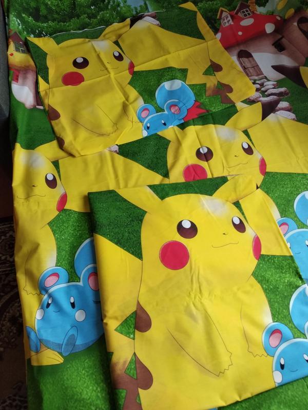 Полуторный комплект детского постельного белья пикачу - Фото 3