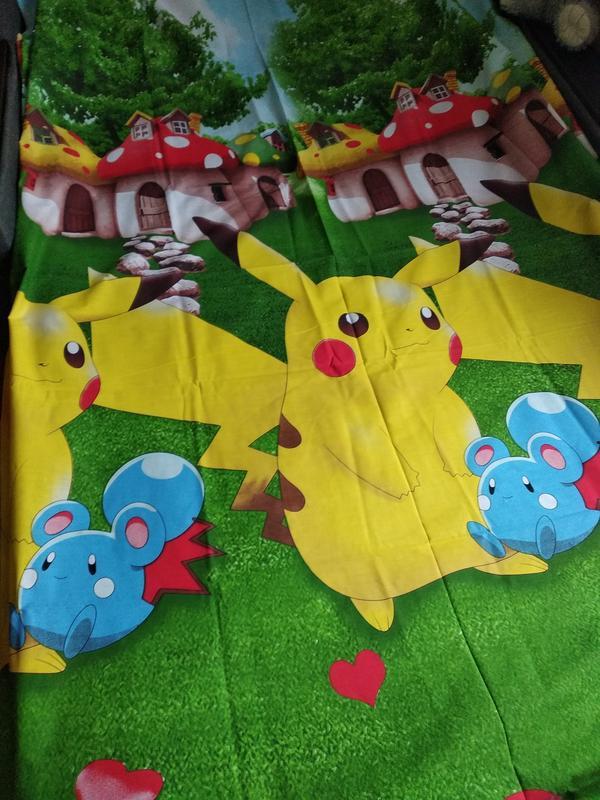 Полуторный комплект детского постельного белья пикачу - Фото 4