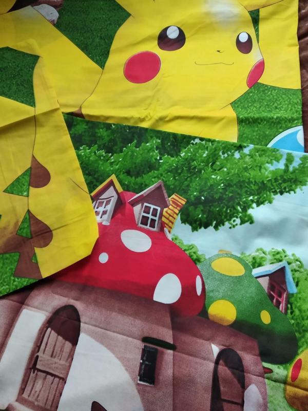 Полуторный комплект детского постельного белья пикачу - Фото 5